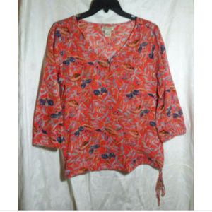 Lucky Brand Multi-color Cotton Pullover Blouse